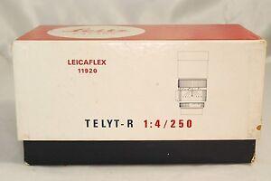 Leitz Leica Leicaflex Telyt - R F4/ 250mm Lens Empty Box vintage 5311041 11920