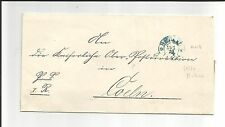 Timbro ferro di cavallo/Berlin 11/1. 72, Blu A PS-lettera N. COELN