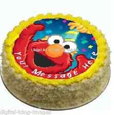 Cake topper edible image icing Elmo sesame street REAL FONDANT