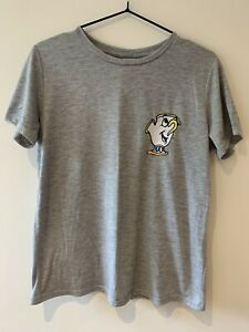 Disney Chip Teacup Embroidered Boxy Tshirt Grey Size UK 12
