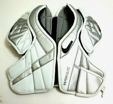 Nike Vapor Elite Lacrosse Chest Pad mens size Medium ~ White and Silver
