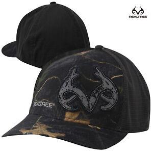 Realtree Brown Antlers Meshback Cap (L/XL)- RTX Black