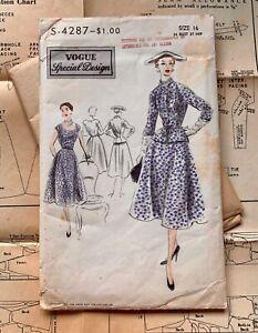 50s Dior-esque vintage Vogue Special Design couture style dress jacket Dior Fath