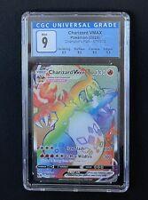 2020 POKEMON CHAMPION'S PATH RAINBOW CHARIZARD VMAX #074/073 CGC 9 MINT