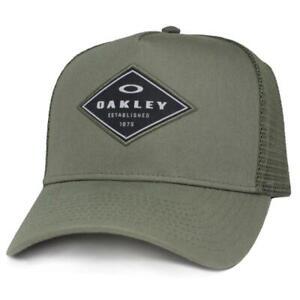 Oakley Fracture Adjustable Trucker Cap Worn Olive Mens Snapback Baseball Hat