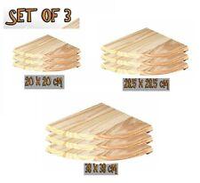 Set Of 3 Natural Wood Corner Shelves / Shelf / Pine Shelf / Floating Shelf 3SIZE
