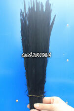 Free shipping 10pcs pretty 12-14 inch /30-35 cm black pheasant tail feathers