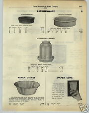 1930 PAPER AD Earthenware Pottery Sanitary Chicken Chick Water Fountain Dish