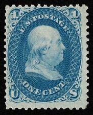 Scott#63 1c Benjamin Franklin 1861 Mint LH OG