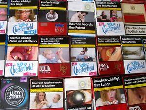 80 leere Zigarettenschachteln gemischt   Zigarettenschachtel  Schachtel LKZ