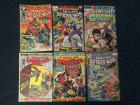 AMAZING SPIDER-MAN Bronze Age Lot of 6 comics: #115,138,143,171,182,Giant 3- VG+