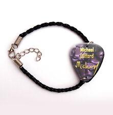 Famous guitar pick plectrum Bracelet purple pearl Michael Clifford 5 summer