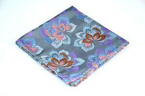 Lord R Colton Masterworks Pocket Square - Pewter Newborn  Silk - $75 New