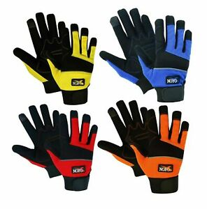 Mechanics Work Gloves Washable Safety Hand Protection Heavy Gardening Duty