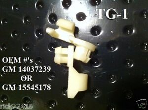 "General Motors Door / Tailgate Handle Rod Clips Fits 3/16"" Rods&11/32"" hole TG-1"