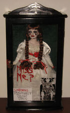 Creepy Horror Gothic Scary Art Doll Annabelle 'The Conjuring' Wood Case L Ganci