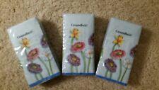 Gesundheit Pocket Facial Tissues-3 Packs New Cut flowers blue background