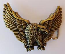 Biker Usa Animal Bird Belt Buckle New Eagle Patriotic Gold Antique Brass America