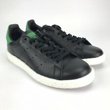 Adidas Originals Stan Smith Boost Core Black Green Shoes Womens Size 8 Mens 6