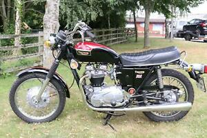 Triumph TR6 TR 6 Tiger 650 1973 UK Bike, matching numbers, runs and rides
