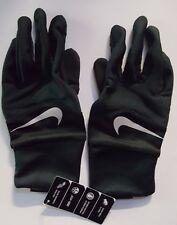Nike Women's Dri-Fit Tempo Run Gloves Black/Silver Small New