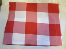 Designers Guild red white large checked queen flat sheet 2 different size shams