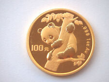 China 100 Yuan 1996 Gold Panda, 1 Unze 999er Gold - Stgl. sehr selten