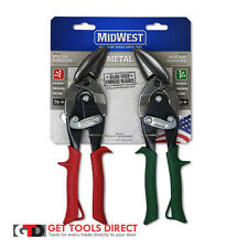 Midwest 2 Piece Offset Aviation Snips Set P6510-R Right And P6510-L Left