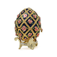 Faberge Metal Crafts Jewelry Trinket Box Hollow Egg For Christmas Wedding Gifts