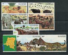 Zaire 779/85 postfrisch / Tiere - Elefanten - Löwen ......................1/1480