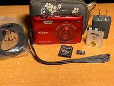 Nikon COOLPIX S4300 16.0MP Digital Camera - Red + Extras