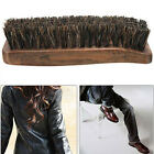 Practical Horse Hair Professional Shoe Shine Polish Buffing Brush Wooden Brown