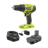 """Ryobi P1810 18V 3/8"""" Cordless 2-Speed Drill Kit With Battery & Charger - New!"""