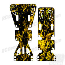T-Maxx / E-Maxx INTEGY Skid Plate Protectors Digital Flames -Yellow- Traxxas