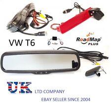 vw transporter t6 rear reverse parking camera 4.3 inch rear view mirror monitor