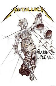 Metallica And Justice For All Fabric Poster Flag Premium Wall Banner Official