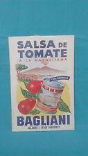 ANTIQUE CARDBOARD ADVERTISING TOMATOE SAUCE BAGLIANI RIO NEGRO VALLEY