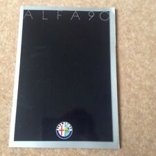Alfa Romeo Alfa 90 Brochure 1980's Large Format Mint Condition