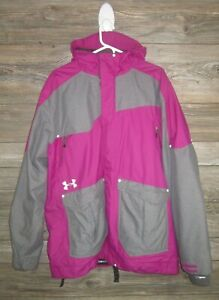 Under Armour Snow Ski Jacket- Pink and Gray Size Women's Large