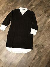 Venus Collar Detail Sweater Dress Xsmall