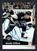 Randy Gilhen #403 signed autograph auto 1991-92 Pro Set Hockey Trading Card