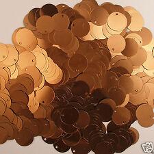 Sequins Paillettes / Flat 15mm Bronze 200 pieces Loose