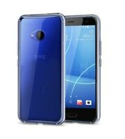 For HTC U11 Life Clear Slim Gel Case & Glass Screen Protector
