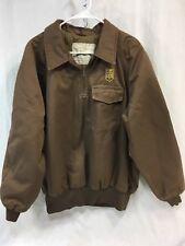 UNITED PARCEL SERVICE UPS Mens LARGE 42-44 BROWN HALF ZIP PULL OVER Coat Jacket