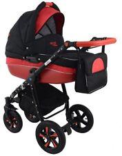 Nexxo Black Travel System Pram Stroller 3in1 - 4in1 with car seat & isofix base