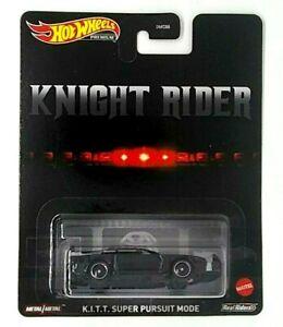 Hot Wheels KNIGHT RIDER K.I.T.T. Super Pursuit Mode Premium Metal Car KITT