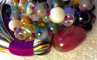 108 Mala Beads Necklace, Psychic Ability, Dimentia,Tourmaline, Onyx, Citrine