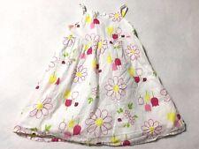 Gymboree Girls 6 Pretty Lady White Ladybug Daisy Tulip Flower Dress