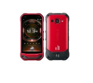 au KYV41 (KYOCERA TORQUE G03) Unlocked – Red 32+3GB, 13MP Smartphone