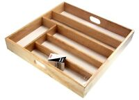 Wooden Cutlery Drawer Tray Rack Holder Kitchen Cutlery Storing Sorting Beechwood